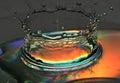 Splash of water is frozen Royalty Free Stock Photo