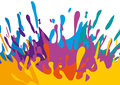 Splashes of color illustration with and drops Royalty Free Stock Photos