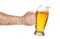 Splashing beer in hand