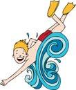 Splashing Boy Stock Photography