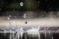 Splashing close up of water could represent rain Stock Image