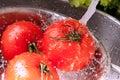 Splashing tomatoes Royalty Free Stock Images