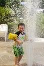 Splashing water fountain Royalty Free Stock Photo