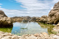 Splashing water with a rock shot in the tsitsikamma national park garden route area western cape south africa Royalty Free Stock Photos