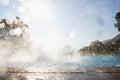 Splashing water in swimming pool Royalty Free Stock Photo