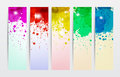 Splat Banners Royalty Free Stock Photography
