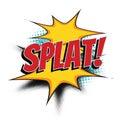 Splat comic word Royalty Free Stock Photo