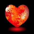 Splat grunge heart Stock Images
