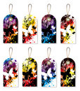 Splat tag dark Royalty Free Stock Images
