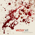 Splattered blood stains, set 3 Stock Photo