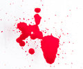 Splattered blood stains on a white background Royalty Free Stock Images