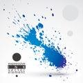 Splattered web design element, art ink blob, bright paintbrush d