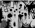 Splatters Black&White Royalty Free Stock Image