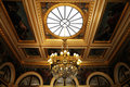 Splendid ceiling Chandelier in royal palace Royalty Free Stock Photo