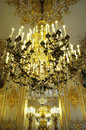 Splendid Chandelier in royal palace Royalty Free Stock Photo