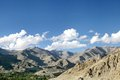 Splendid mountains of leh ladakah city with beautiful landscape and houses Royalty Free Stock Image