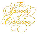 Splendor of Christmas Script Royalty Free Stock Photography