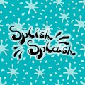 Splish Splash handwritten word on a seamless vector pattern with splashes Royalty Free Stock Photo