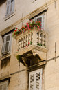 Split balcony old tiny croatia Royalty Free Stock Photo