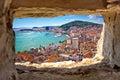 Split Bay Aerial View Through ...