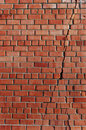 Split in the brick wall. Royalty Free Stock Photo