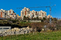 Split city suburbs apartment buildings in of in croatia Royalty Free Stock Images