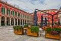 SPLIT, CROATIA - AUG 5, 2016: Split old town square
