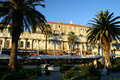 Split croatia harbour promenade in Royalty Free Stock Image