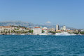 Split croatia july jadrolinija ferries are docked in harbour on july in jadrolinija is s largest ferry Stock Photography