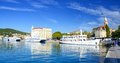 Split croatia october ferries in a harbor on october in is s main tourist harbor connecting all Royalty Free Stock Photography