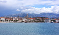 Split croatia panoramic waterfront view of Stock Photo