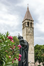 Split, Croatia. Statue of Gregorius of Nin Royalty Free Stock Photo