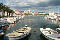 Split harbour Royalty Free Stock Photo