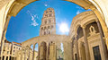 Split historic Peristil UNESCO site Royalty Free Stock Photo