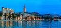 Split at night, Croatia Royalty Free Stock Photo