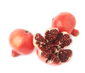 Split open pomegranate fruit Royalty Free Stock Photo