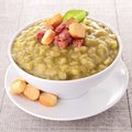 Split pea with bacon Stock Image