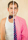 Split personality Stock Photos