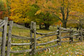 Split Rail Fence and Fall Colors Royalty Free Stock Photo
