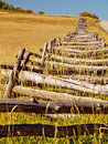 Split rail fence on the last dollar ranch colorado Royalty Free Stock Image