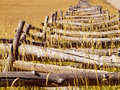 Split rail fence on the last dollar ranch colorado Royalty Free Stock Images