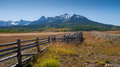Split rail fence on the last dollar ranch colorado Stock Photos