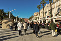 Split seafront walkway croatia december newly renovated in croatia s the second largest urban centre Stock Photography