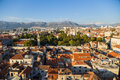 Split view from bell tower is a city in croatia situated in the mediterranean basin on the eastern shores of the adriatic sea Stock Photos