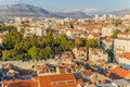 Split view from bell tower is a city in croatia situated in the mediterranean basin on the eastern shores of the adriatic sea Royalty Free Stock Photography