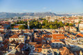 Split view from bell tower is a city in croatia situated in the mediterranean basin on the eastern shores of the adriatic sea Royalty Free Stock Image
