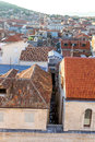 Split view from bell tower is a city in croatia situated in the mediterranean basin on the eastern shores of the adriatic sea Royalty Free Stock Photo