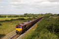 Spoil freight train calvert uk august a dbs operated returns to the depot having deposited waste from london on august in calvert Stock Photography