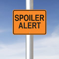 Spoiler alert a road sign warning of a Royalty Free Stock Images