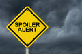 Spoiler Alert Warning Sign Royalty Free Stock Photo